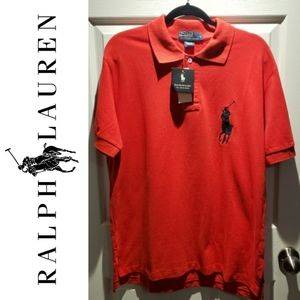 BNWT Polo by Ralph Lauren Red Polo Shirt